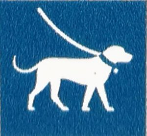 Gebotsschild: Hunde an die Leine. Kullaberget