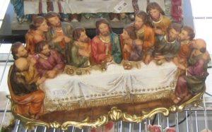 Dreidimensionale Variante des Letzten Abendmahls von Leonardo