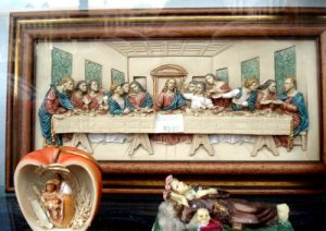 Relief des Letzten Abendmahls von Leonardo