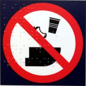 Keinen Müll in die Toilette ICE