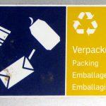 Mülltrennung. Verpackung. DB