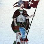 St. Florian an einem Feuerwehrhaus in Oberbayern