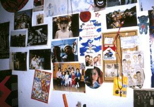 Wand im Zimmer eines Teenagers 1998