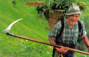 Österreicher gehen gerne traditionellen landwirtschaftlichen Tätigkeiten nach.