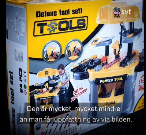 Verpackung Kinderspielzeugwerkbank